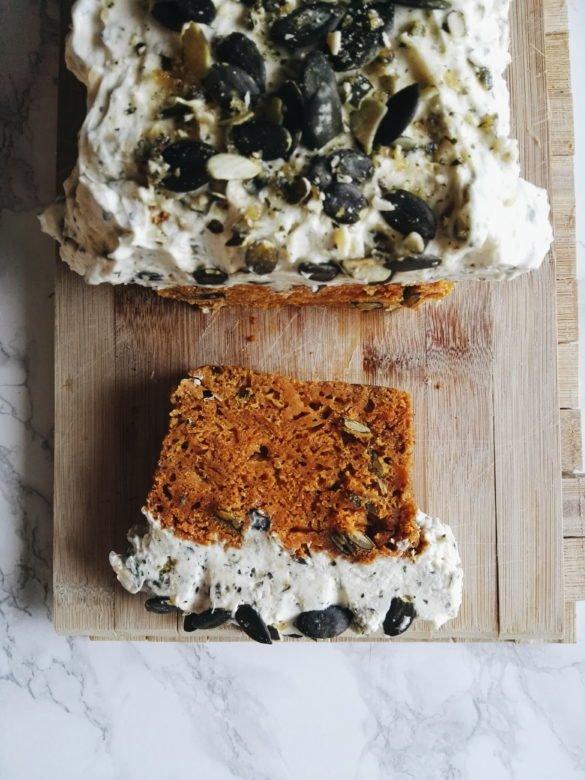 Ciasto dyniowe z kremem mascarpone i praliną dyniową 32