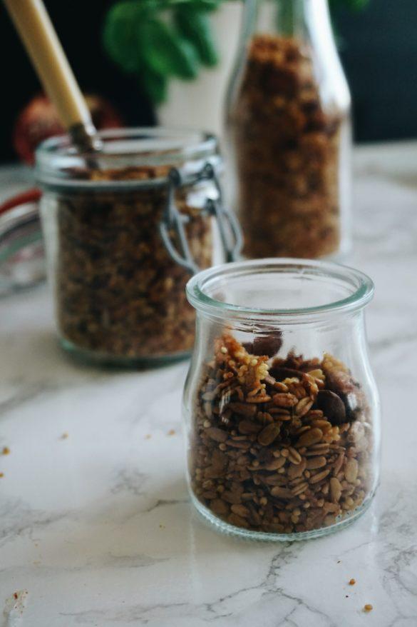 Odżywcza pomarańczowa granola z kaszą jaglaną, quinoa i migdałami 62
