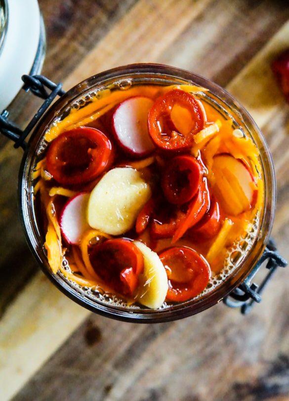 Piklowana marchewka i rzodkiewka z chili 14