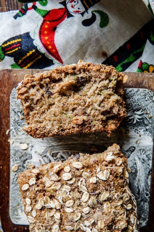 Chlebek cukiniowy z płatkami owsianymi 24