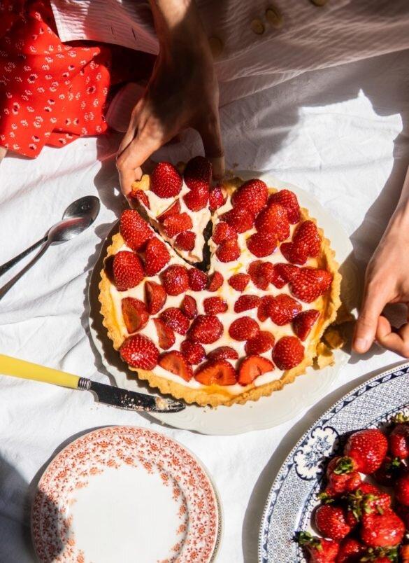 Jeszcze lepsza tarta z truskawkami i kremem mascarpone 4