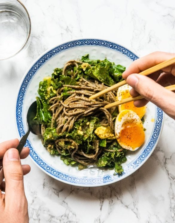 Soba Noodles with Avocado Sauce and 6-minute Egg 18