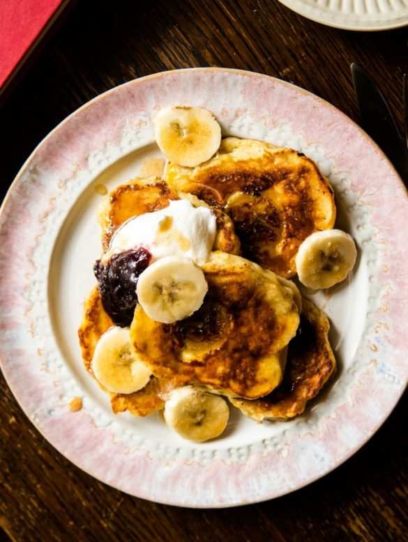 Fluffy Banana Pancakes with Buttered Cinnamon Honey 10