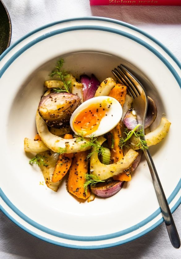 Sautéed Fennel with Sweet Potato, Mustard Seeds and 6-minute Eggs 14