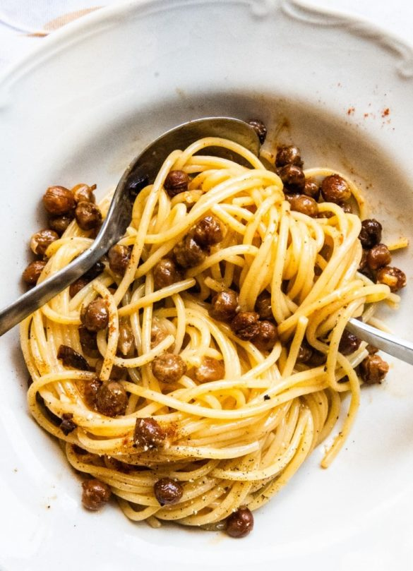 Vegetarian Carbonara with Crunchy-Smoked Chickpeas 8