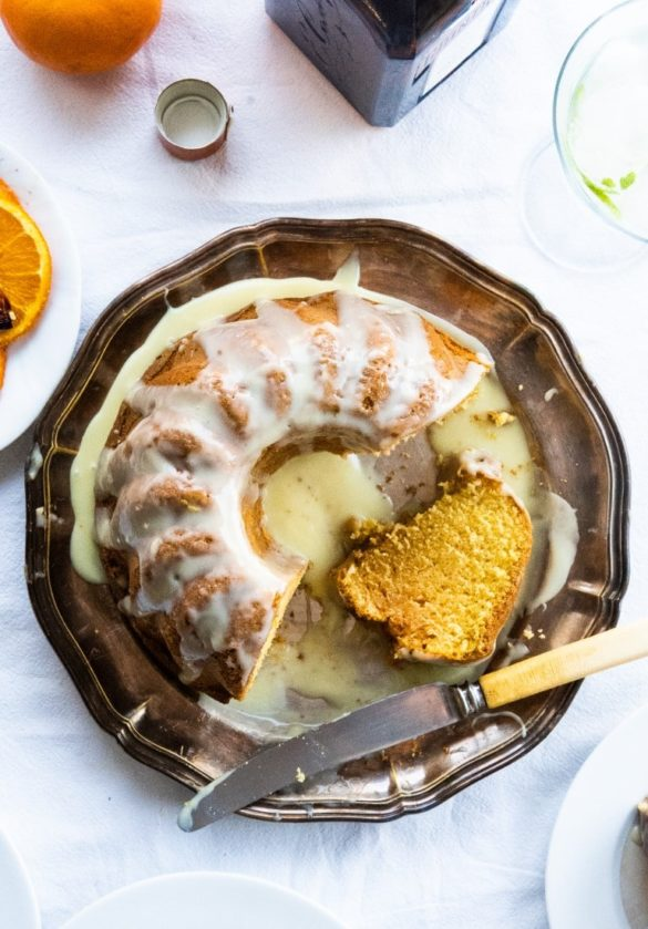Orange Bundt Cake with Cointreau Liqueur and White Chocolate Glaze 10