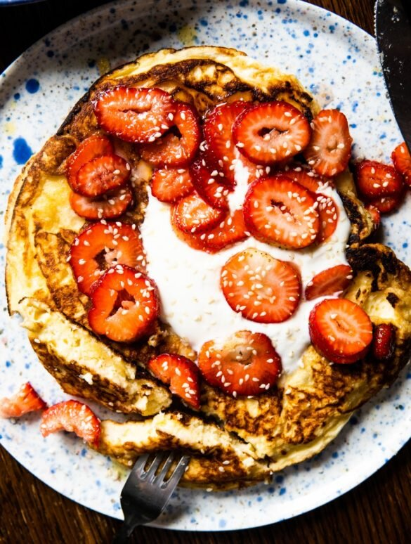 Fluffiest Buttermilk Omelette with Macerated Strawberries 2