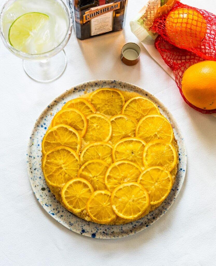 Odwrócone ciasto migdałowe z pomarańczami i likierem Cointreau 2