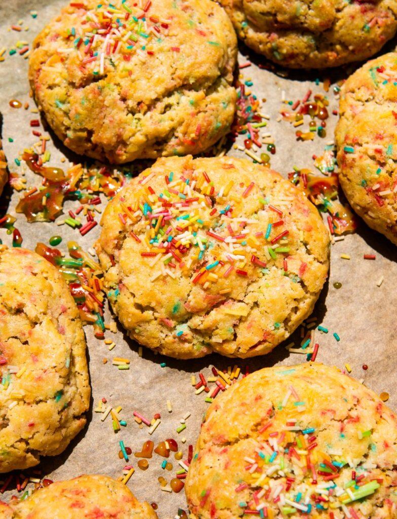Tęczowe ciasteczka